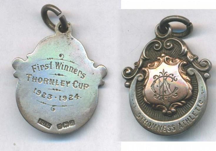 Thornley Cup winners medal