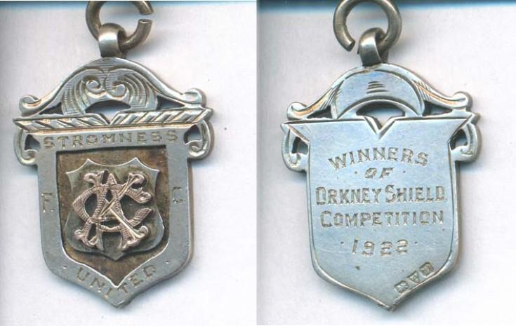 Orkney Sheild winners medal