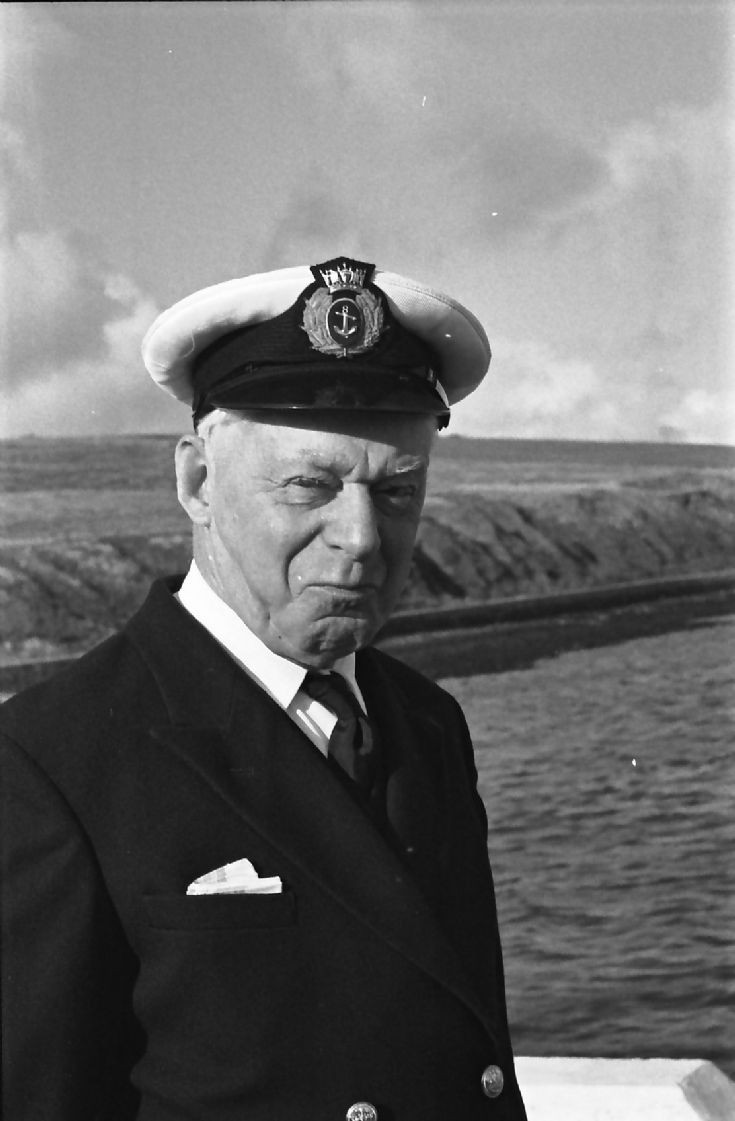 Isaac in his role as Harbourmaster at Scapa