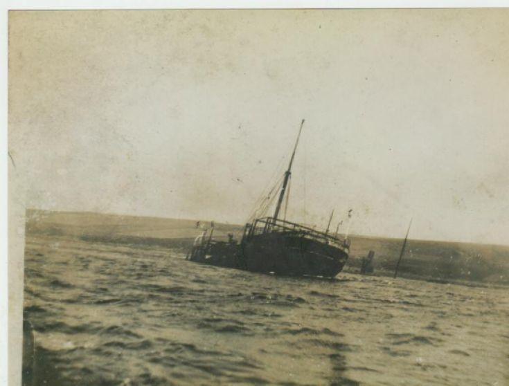 Urmmston Grange sunk in Burra Sound