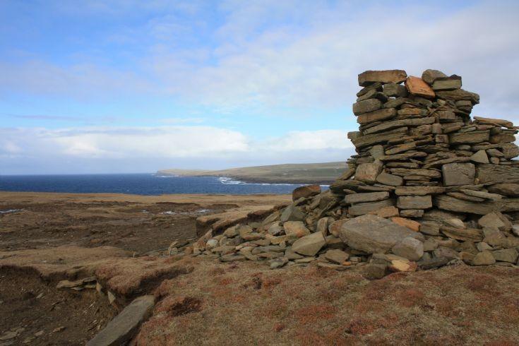 Stone pile on headland