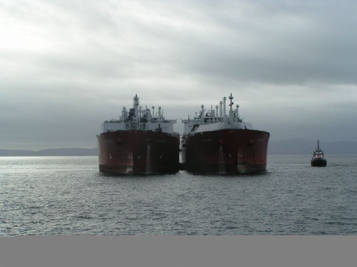 LNG transfer taking place in Scapa Flow