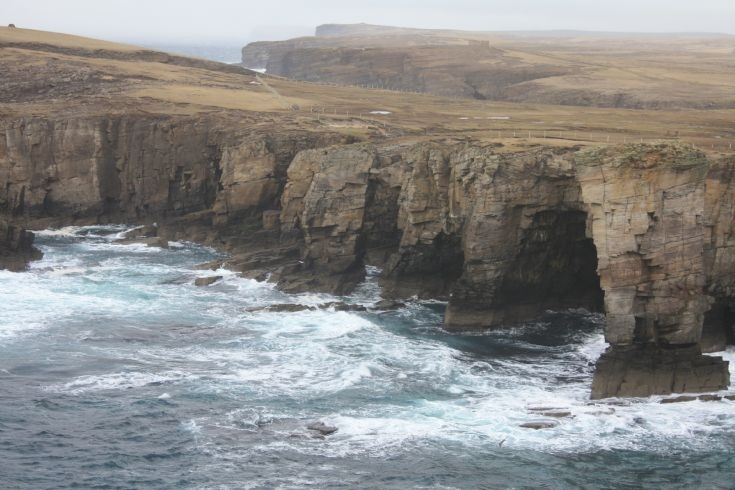 Stacks and caves at Yesnaby