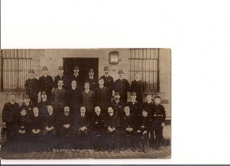 PO staff, Kirkwall, 1913
