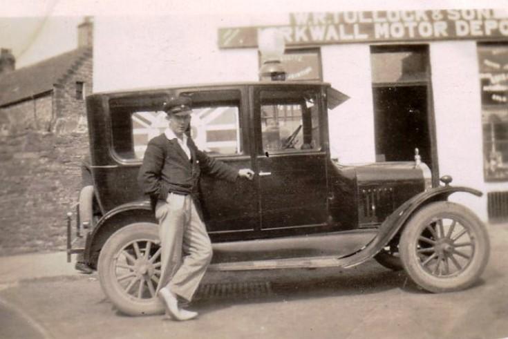Model T Ford outside Tullock's
