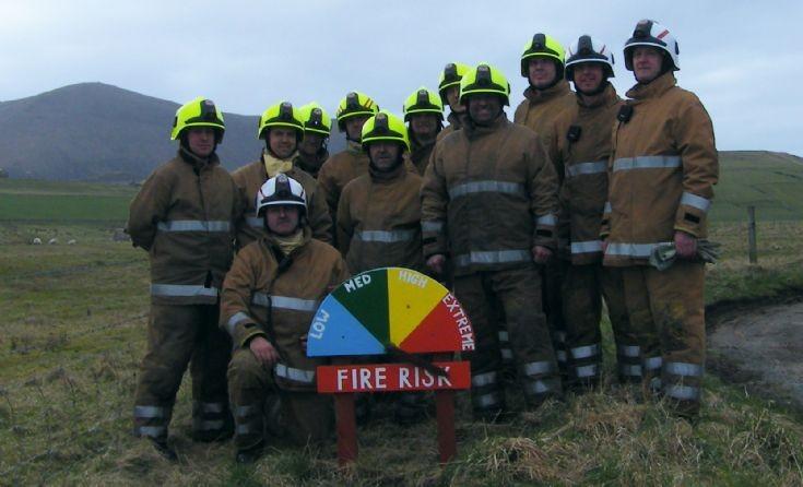 Heath fire in Hoy 6