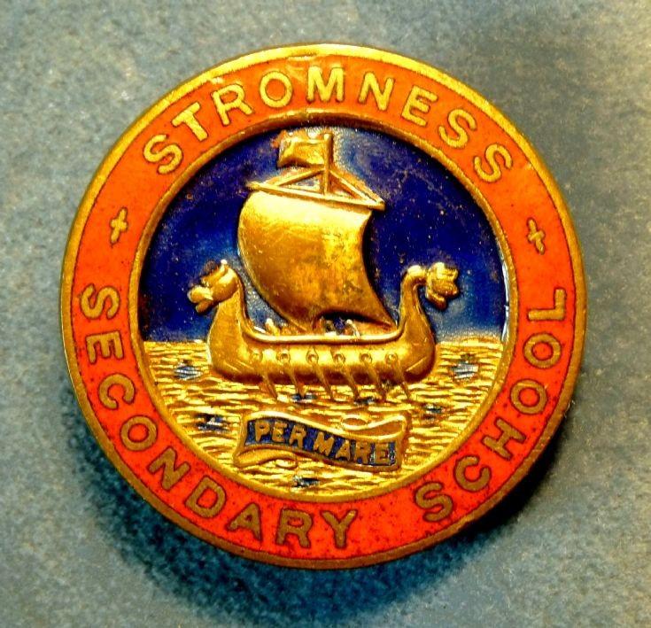 Stromness Secondary School lapel badge