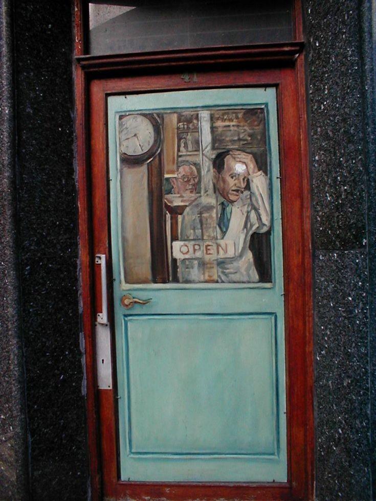 Door of 41 Victoria St, Stromness