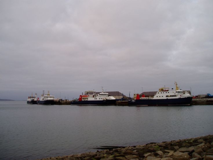 Four Orkney Ferries at Kirkwall Pier