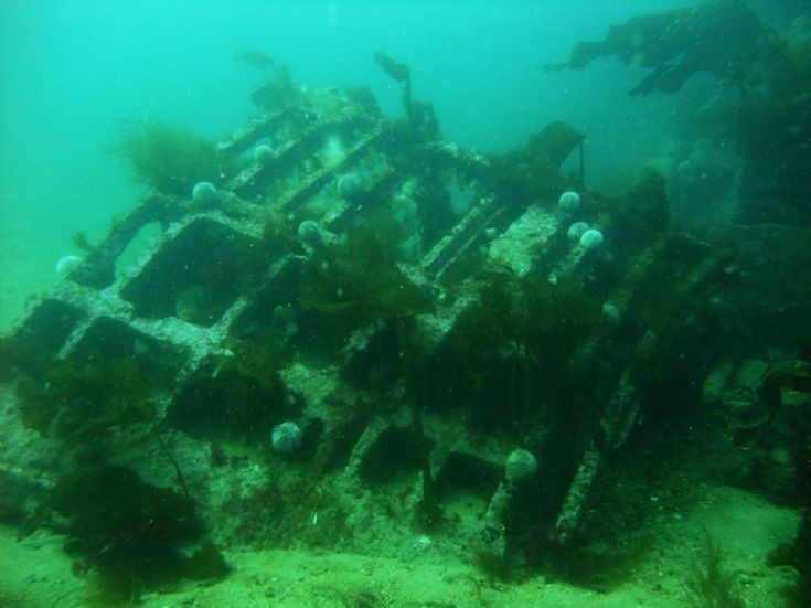 Wreckage of German torpedo boat