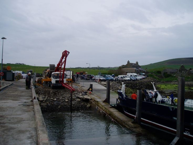 New Hard Ramp Concrete being poured at Tingwall
