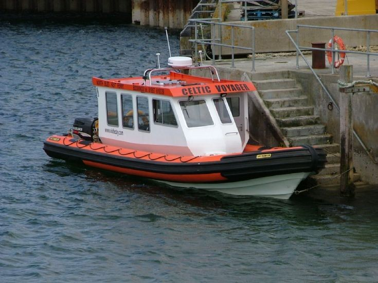 North Isles fast boat at Eday Pier