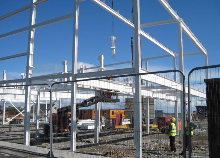 New Tesco store framework going up