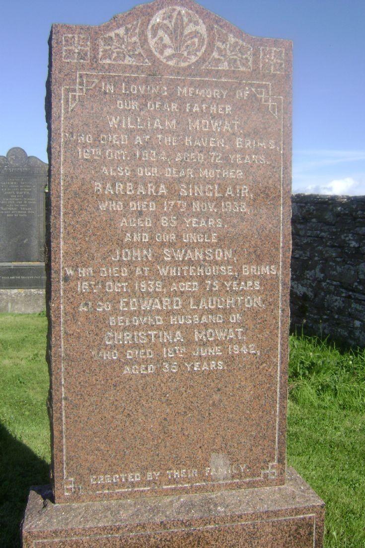 Brims gravestone