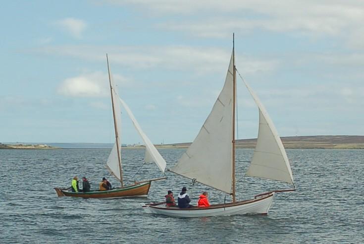 Yoles in 2010 Longhope regatta