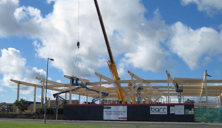 New Tesco store building work progressing fast