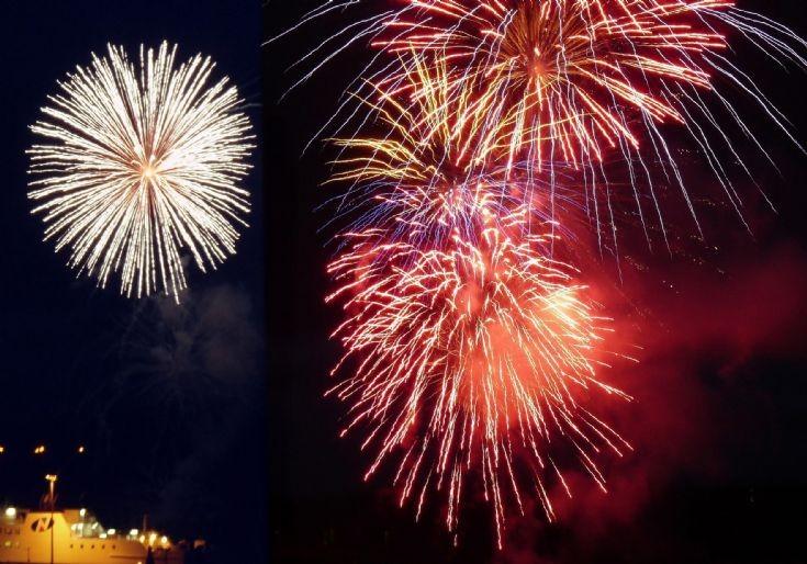 Stromness Shopping Week fireworks