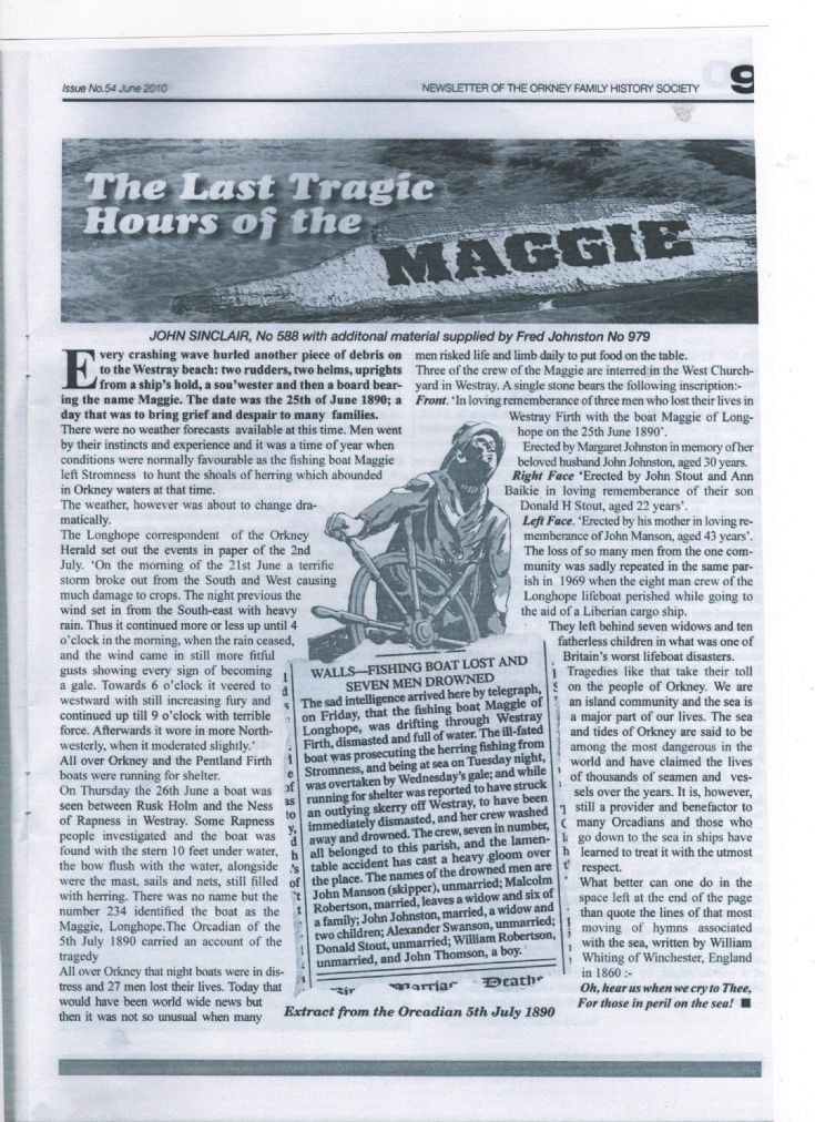 Tragic last hours of The Maggie