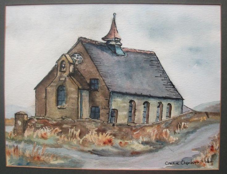 Mystery watercolour church