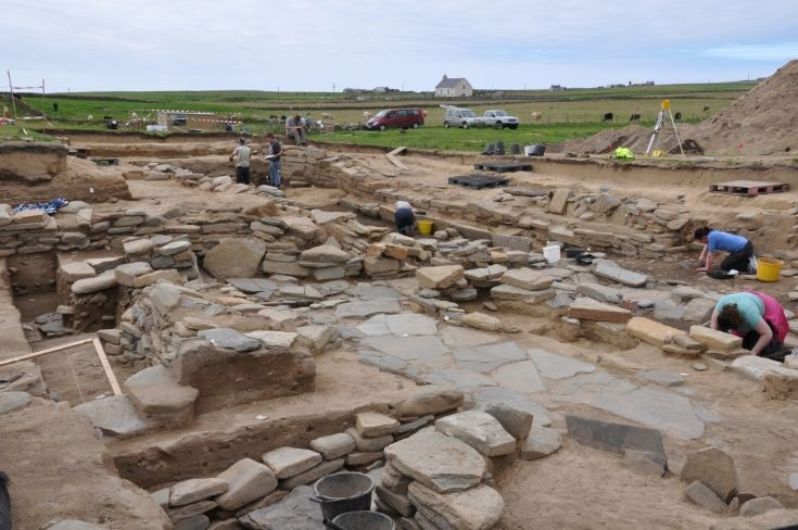 Snusgar longhouse excavation
