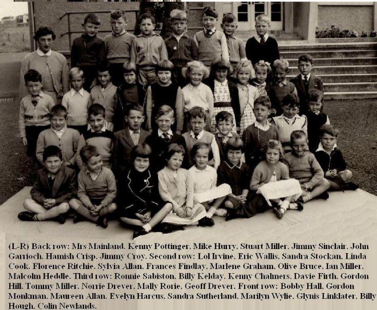 Class 1, Papdale Infant School, 1959