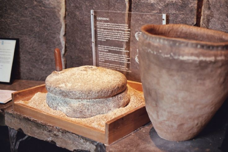 Quern Stone at Broch of Gurness