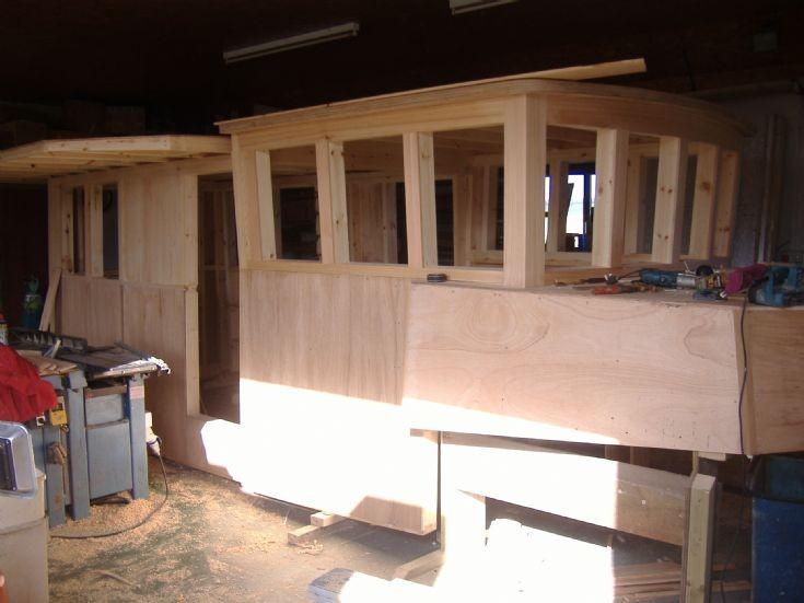 Wheelhouse under construction
