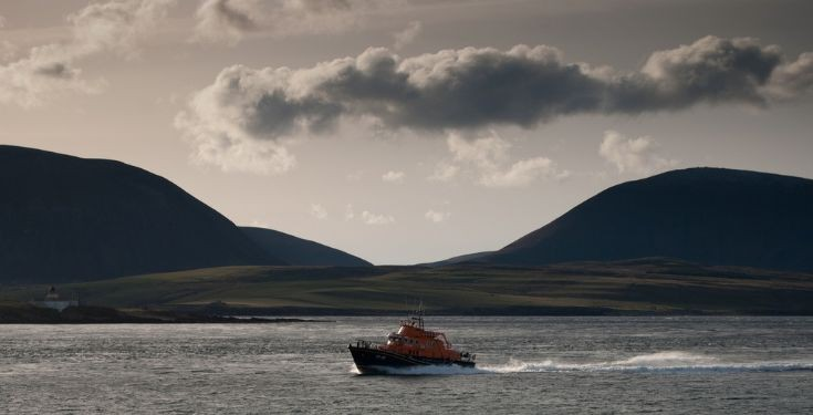 LIfeboat on exercise