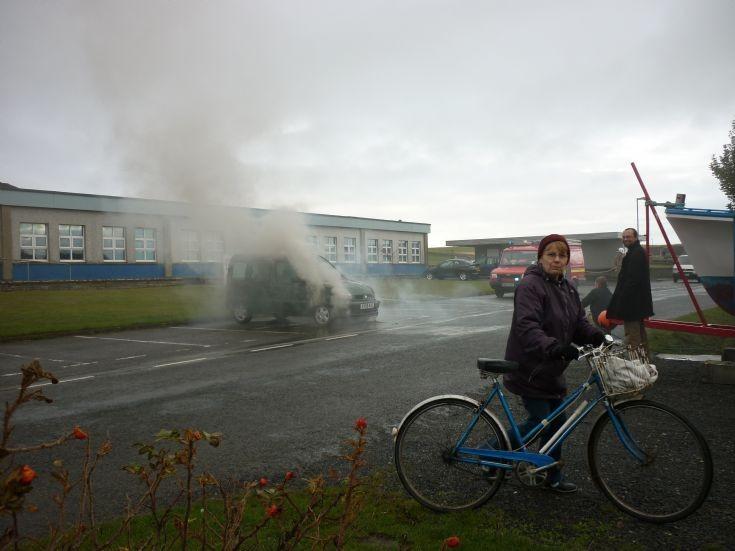 Car Fire in Shapinsay!