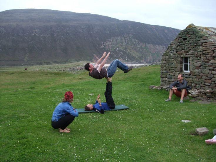 Acrobatics at Rackwick