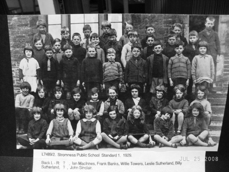 Stromness Public School - Standard 1 - 1929