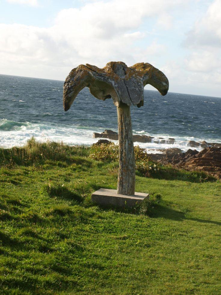 Restored whalebone at Birsay