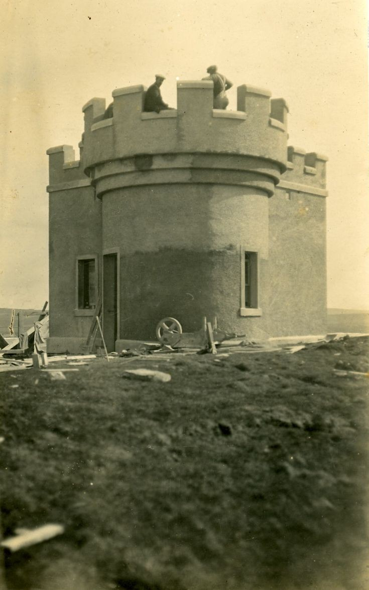 Lighthouse on the Brough of Birsay being built