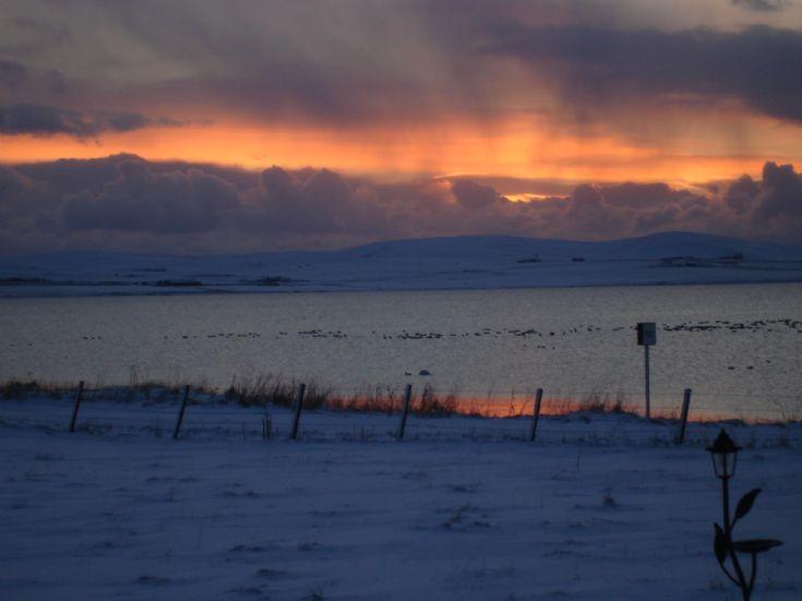 Harray Loch in the snow