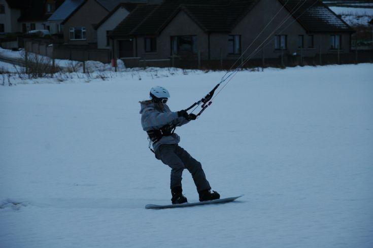 Snowkiting at Picky