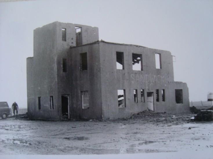 Old control tower at Skea Brae