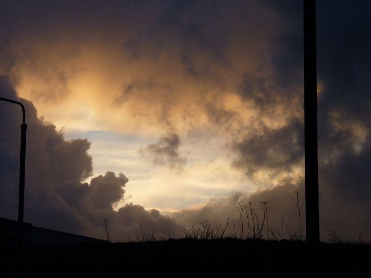 Night sky over Pierowall