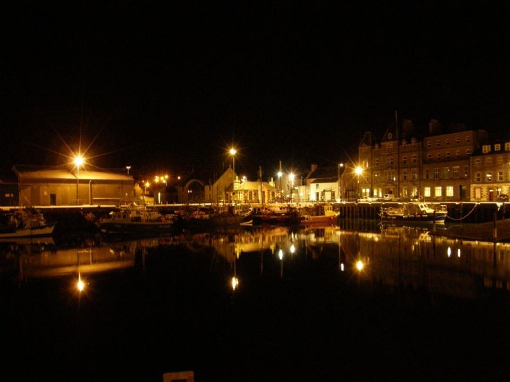 Kirkwall Basin by night