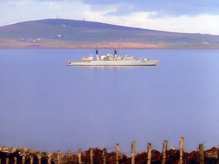 HMS Chatham (F87) in Scapa Flow