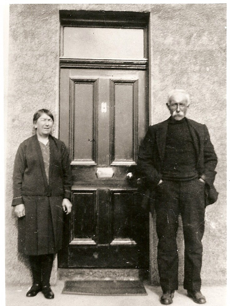 Peter and Robina Reid at Claremont, Stronsay