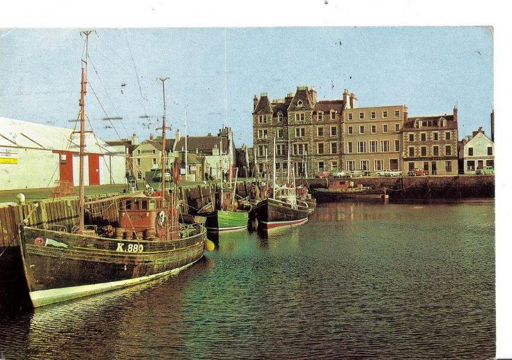 Old postcard showing Kirkwall harbour