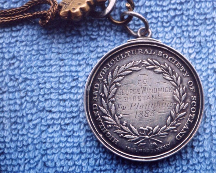 Ploughing medal from 1883