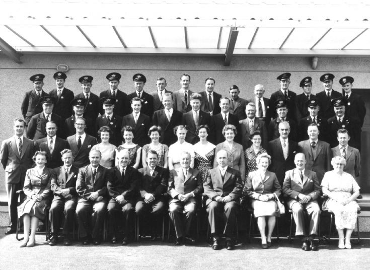 Kirkwall Post Office staff at the new PO in 1960