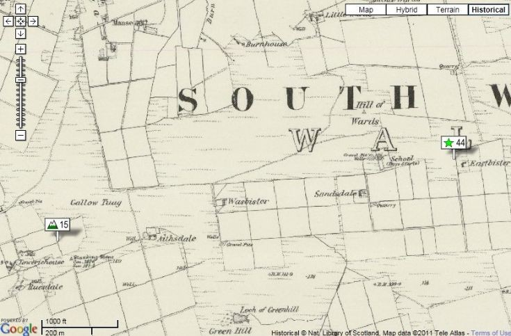 Old map of South Walls