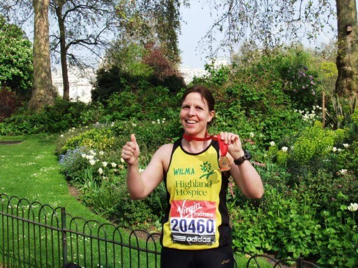 Wilma Leslie runs London Marathon