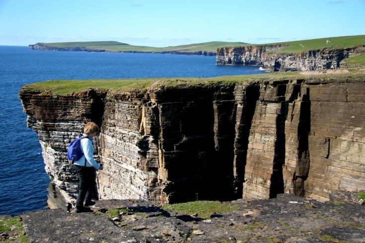 Cliffwalking on Westray