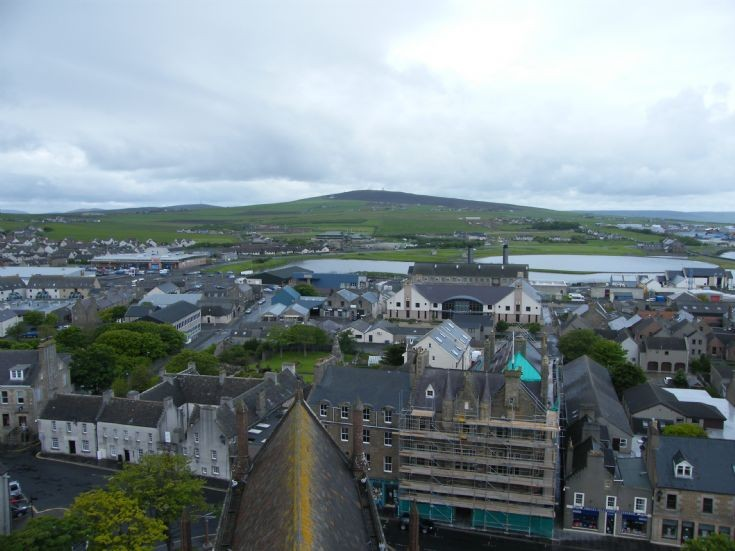 View from St.Magnus Cathedral looking West