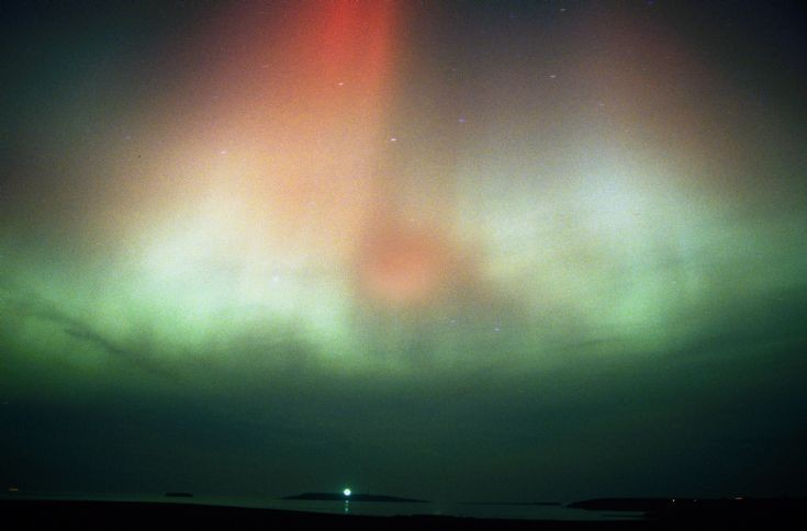 Aurora over Copinsay and Deerness