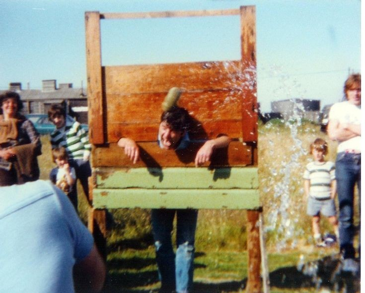 Dr Trickett in the stocks