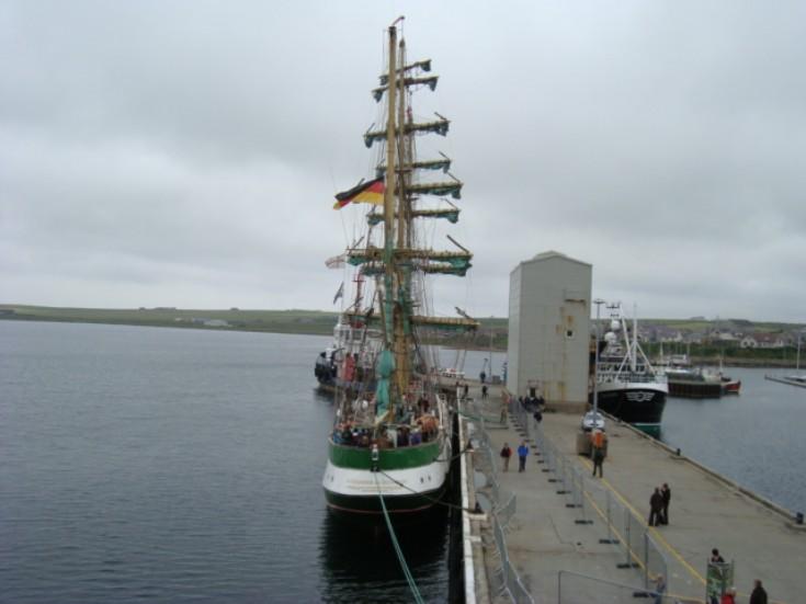 Tall Ship at Kirkwall Pier